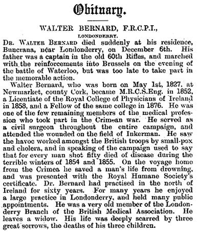 Obituary Dr. Walter Bernard
