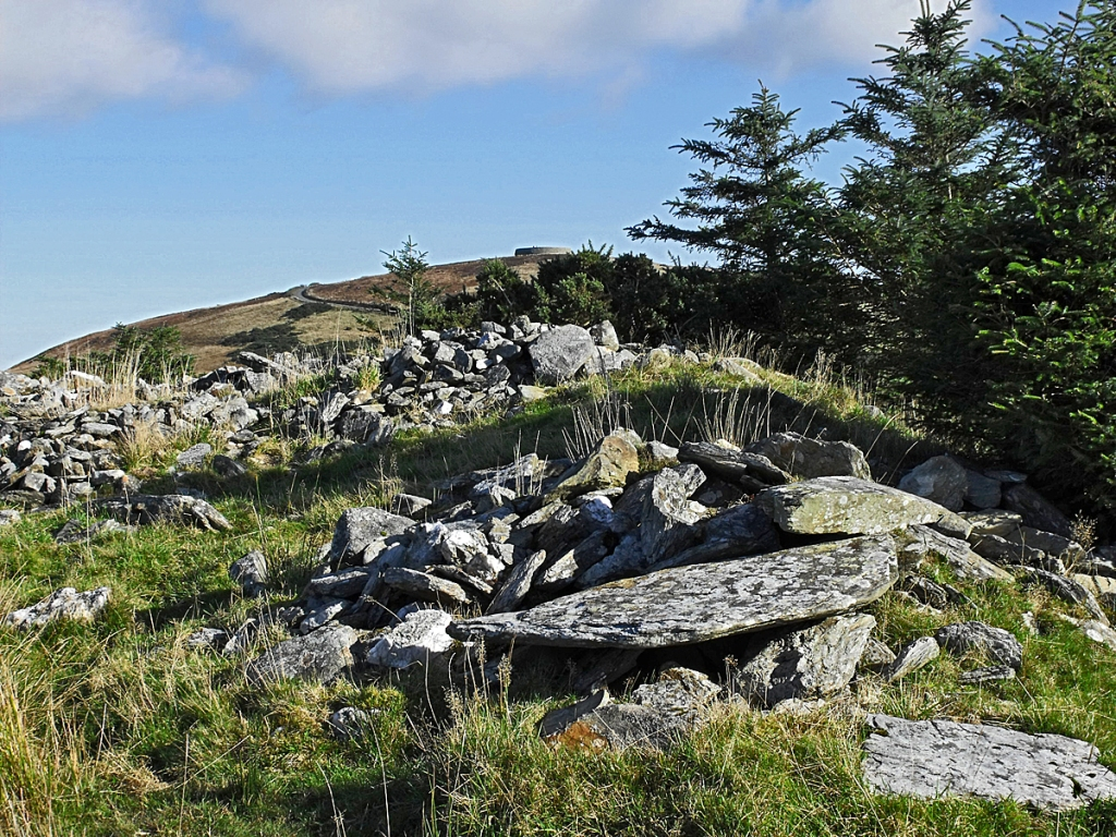 The awkward pile of stones on the ridge on October 12, 2009.